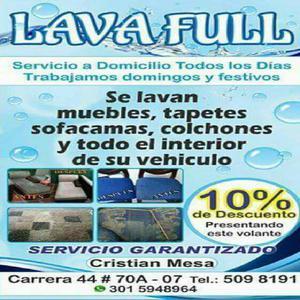 Servicio de Lavado Industrial de Muebles - Medellín