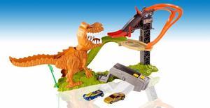 Pista De Carros Hot Wheels T Rex Dinosaurio