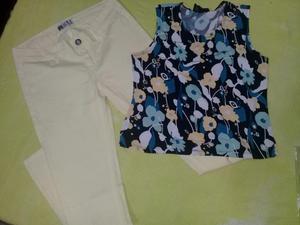Vendo Pantalon Y Blusa Estampada