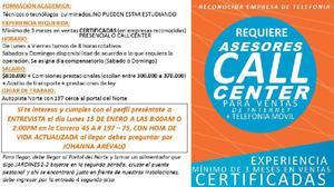 ASESOR CALL CENTER - Zipaquirá
