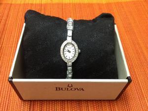 Reloj Bulova Para Mujer Ref. 96t49 Plateado
