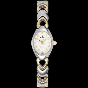 Reloj Bulova Para Mujer Ref. 98v02 Plateado Y Dorado