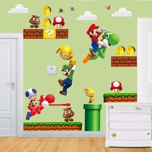 Vinilo Adhesivo Mario Bros Para Habitacion + Envio Gratis