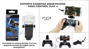 SOPORTE GAMEPAD SMARTPHONE PARA CONTROL DE PLAY 4 ¡¡SOLO