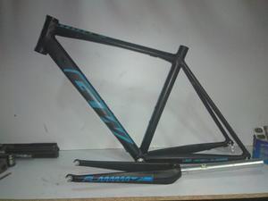 Marco Bicicleta Gw Flamma Talla 49 Negro Azul