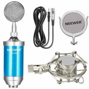 Set Micrófono De Condensador Neewer Con Filtro + Soporte