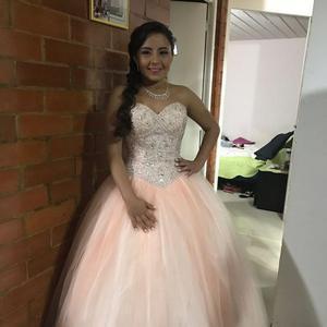 Vestido de 15 Rosado Bb Hermoso