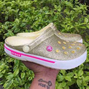 Crocs Band 2.5 Escarchada Dorada Mujer Envio Gratis