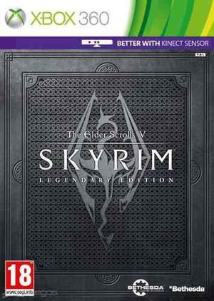Nuevo Xbox 360 Original Legendary The Elder Scrolls 5 Skyrim