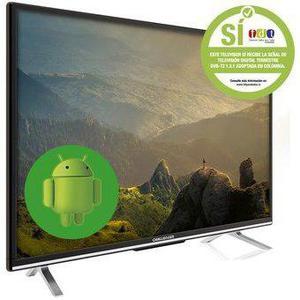 Televisor Challenger Led 32 32t18 Android Tdt Smart Tv Full