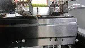 Freidora comercial de doble medell n posot class for Freidoras bogota