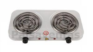 Estufa Eléctrica Fogón 2 Hornillas Calentar Cocinar