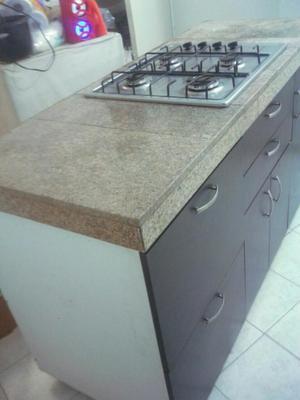 Cubierta cocina estufa empotrada posot class for Mueble para estufa