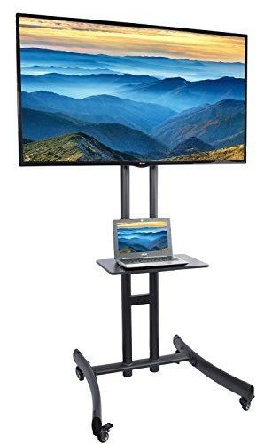 Vivo Tv Cart Para Lcd Led Plasma Flat Panel Stand W / Mobil