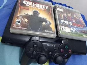 PS3 super slim 232gb COMO NUEVA $500 NEGOCIABLE