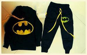 Conjunto Sudadera Batman Tallas Disponibles  Y 14