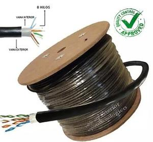 Cctv Cable De Red Utp Categoria 5e Exterior Rollo100 Mts