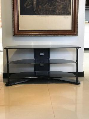 Mesa Tv Moderna Vidrio Templado - Como Nueva