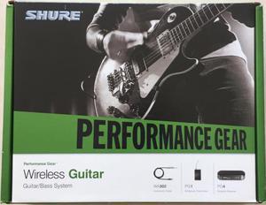 Inalámbrico para Guitarra Y bajo Marca Shure