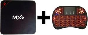 Tv Box Android + Teclado Mouse Inalambrico