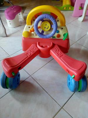 Andadera musical y carrito montable fisher price