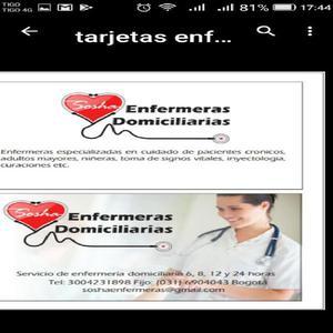 Enfermeras Domiciliarias 24 Horas - Bogotá