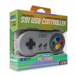 Control Usb Snes Super Nintendo Famicom Pc Mac Marca Cirka -