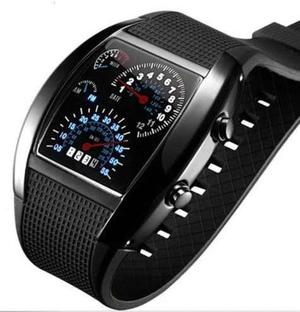 Reloj Led Hombre Digital Tacometro Velocimetro Rpm Unisex