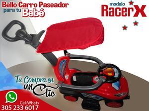 Lindo CARRO PASEADOR para Tu Bebé modelo RACER, techito,