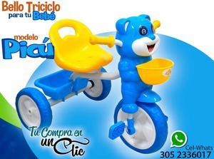 Lindo Triciclo para tu Bebé Modelo PICÚ. Musica, asiento