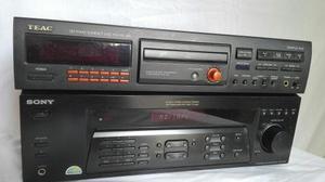 Amplificador Sony, Con 2 Columnas De 12 Y Unidad De Cd Dj