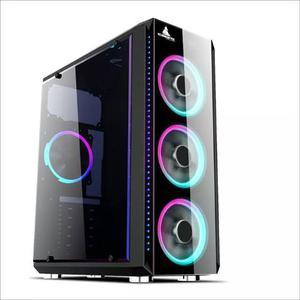 Chasis Iceberg Crystal G9 Rgb 4 Fans Incluidos - Gamer Atx