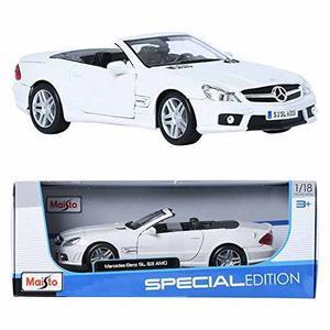 Maisto 118 Mercedes Benz Sl63 Amg Blanco Miniatura De Coche