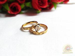 Diamante De Venus Anillo De Compromiso Laminado En Oro 18k