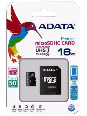 Memoria Micro Sd Adata 16gb Clase 10