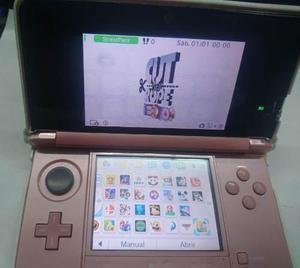 Nintendo 3ds Rosado Con Cargador Y Memoria De 16g 30 Juegos