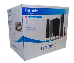 Parlante Con Control Remoto Bluetooth  Watts Unitec B5