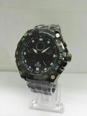 Reloj Casio Edifice Acero Color Negro