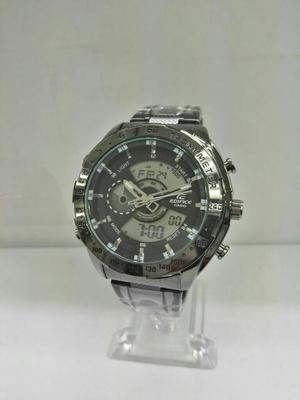 Reloj Casio Edifice Negro Doble Hora