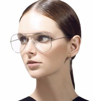 Gafas Transparentes Tipo Aviador Vintage Unisex