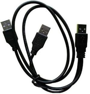 Remate Cable Usb Macho A 2 Machos Usb Discos Duros Externos