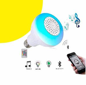 Bombillo Parlante Led Multicolor Bluetooth + Control Sp 77