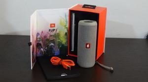 Parlante Bluetooth Jbl Flib 3 Gris Y Naranja
