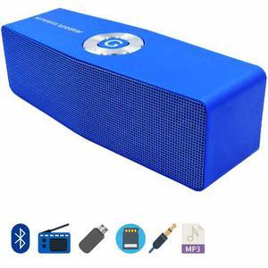Parlante Portatil Bluetooth Stereo Fm, Usb, Micro Sd, Aux