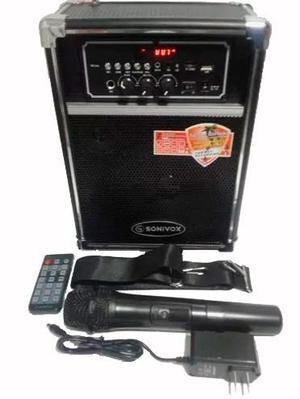 Parlante Sonivox Portable 500w Bluetooh Fm Microfono