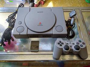 Playstation 1 Original, Con Un Control Original Y Una Memori
