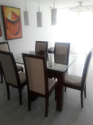Comedor importado 6 puestos moderno2 posot class for Comedor 2 puestos