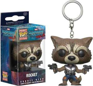 Funko Pop Llavero Rocket Raccoon Guardians Of The Galaxy