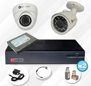 COMBO DE SEGURIDAD AHD CCTV DVR STAND ALONE 4 CANALES 2