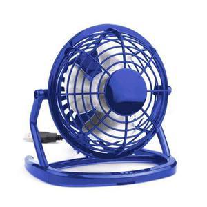 Ventilador Usb Portátil, Ajustable Ligero Silencioso, Azul